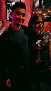 The man of the hour, my buddy Jonjon (Verlaine's drummer), and I!